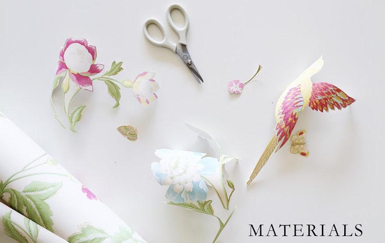 Wallpaper Breakfast Tray Materials