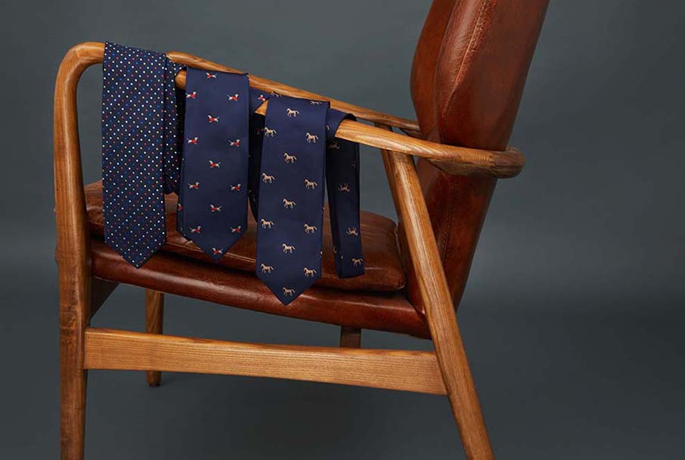 ties on chair